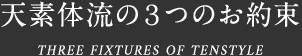 天素体流の3つのお約束